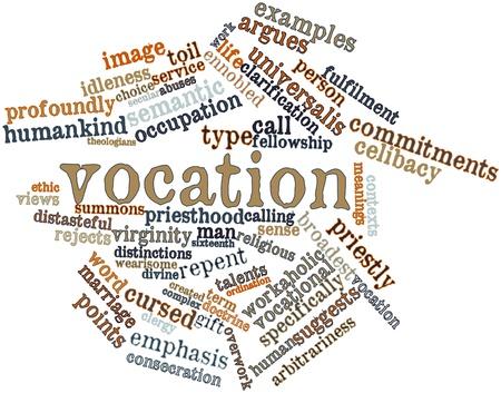 関連タグと用語と職業の抽象的な単語の雲
