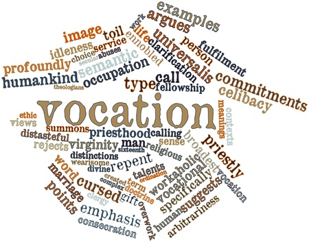 contexts: Abstract word cloud for Vocation with related tags and terms