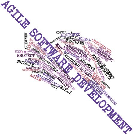 tailored: Abstract word cloud for Agile software development with related tags and terms