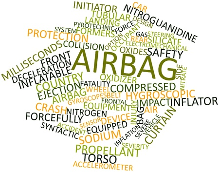 propellant: Abstract word cloud for Airbag with related tags and terms