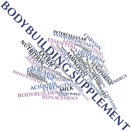 supplementation: Abstract word cloud for Bodybuilding supplement with related tags and terms