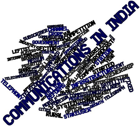 Abstract word cloud for Communications in India with related tags and terms Stock Photo - 16414173