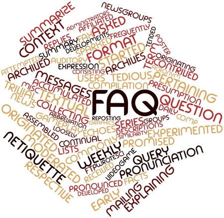 limitations: Abstract word cloud for FAQ with related tags and terms