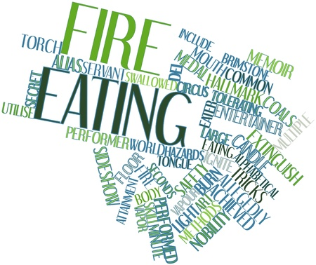 ascertain: Abstract word cloud for Fire eating with related tags and terms