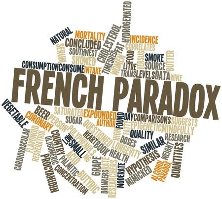Paradoks: Abstract cloud słowo francuskiego paradoksu z powiązanymi tagów oraz warunków Zdjęcie Seryjne