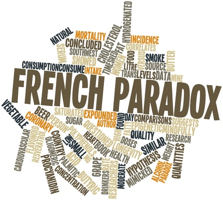 Abstract word cloud for French paradox with related tags and terms Stock Photo - 16414400