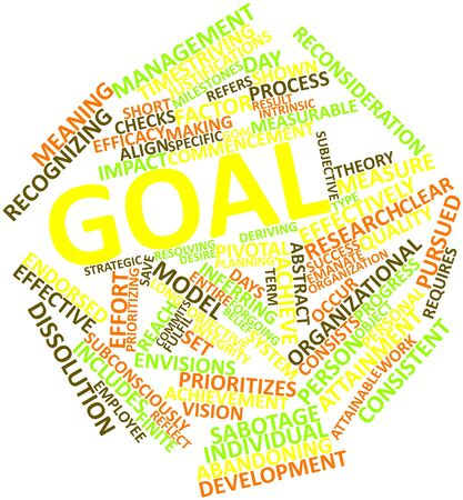 Abstract word cloud for Goal with related tags and terms Stock Photo - 16414171