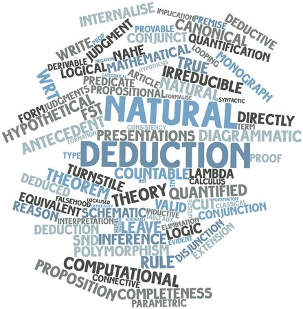 Abstract word cloud for Natural deduction with related tags and terms