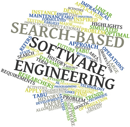 Abstract word cloud for Search-based software engineering with related tags and terms Stock Photo - 16414208