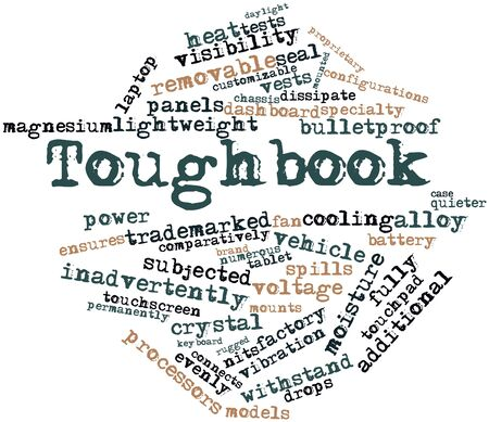 Abstract word cloud for Toughbook with related tags and terms photo