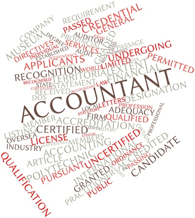 directives: Abstract word cloud for Accountant with related tags and terms