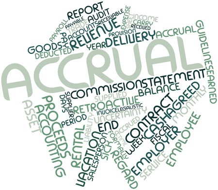taxable: Abstract word cloud for Accrual with related tags and terms