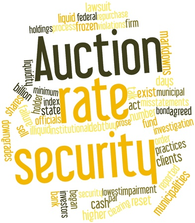 prose: Abstract word cloud for Auction rate security with related tags and terms