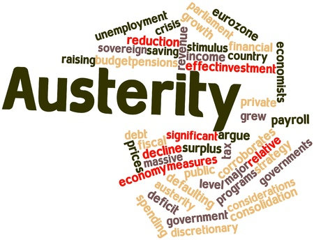 liquidity: Abstract word cloud for Austerity with related tags and terms