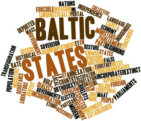 Abstract word cloud for Baltic states with related tags and terms Stock Photo - 16446025