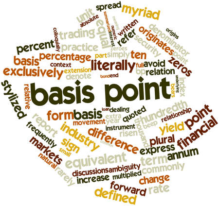 Abstract word cloud for Basis point with related tags and terms Фото со стока