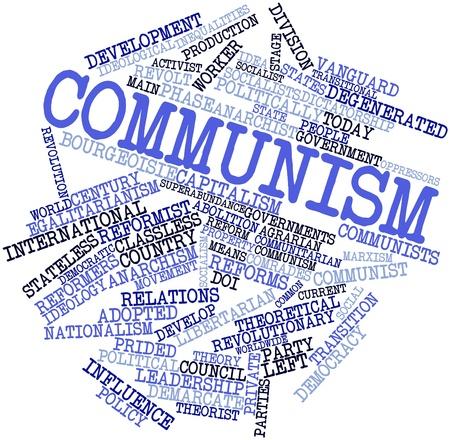 parliaments: Word cloud astratto per il comunismo con tag correlati e termini