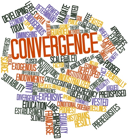 Abstract word cloud for Convergence with related tags and terms Stock Photo - 16446047