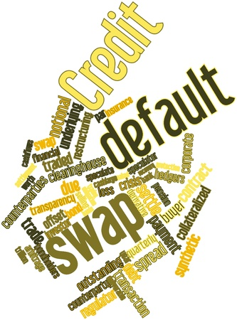 deliverable: Abstract word cloud for Credit default swap with related tags and terms