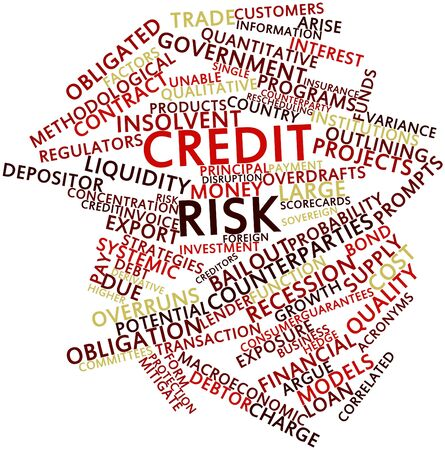 correlated: Abstract word cloud for Credit risk with related tags and terms