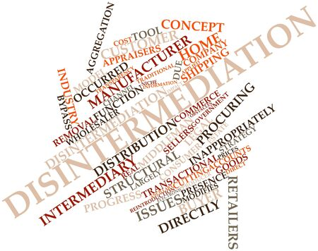 occurred: Abstract word cloud for Disintermediation with related tags and terms