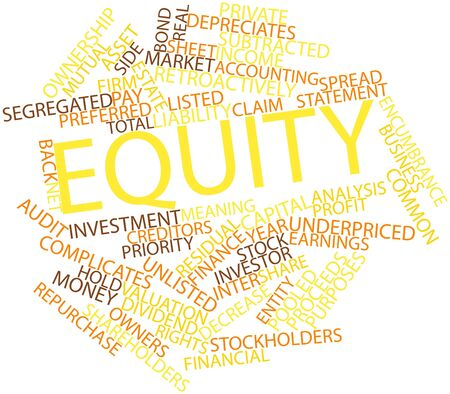 Abstract word cloud for Equity with related tags and terms Stock Photo - 16445957