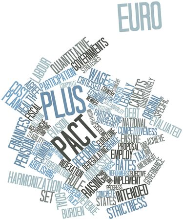 criticised: Abstract word cloud for Euro Plus Pact with related tags and terms