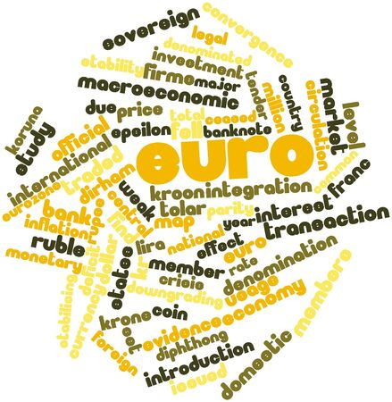 Abstract word cloud for Euro with related tags and terms Stock Photo - 16445941