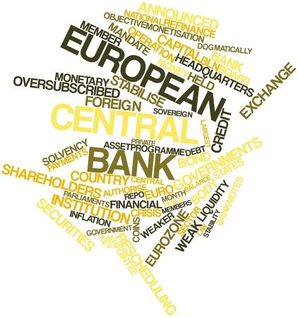 Abstract word cloud for European Central Bank with related tags and terms Stock Photo - 16445944