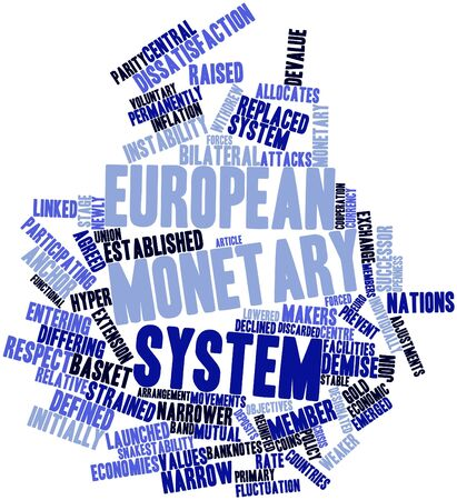 weaker: Abstract word cloud for European Monetary System with related tags and terms