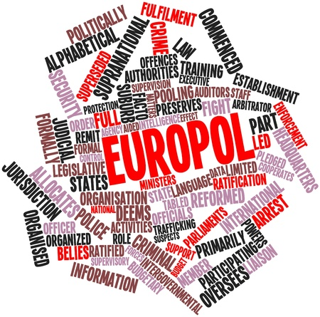 Abstract word cloud for Europol with related tags and terms Stock Photo - 16446040