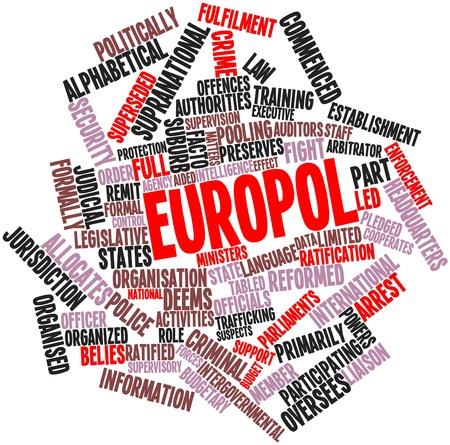 parliaments: Word cloud astratto per Europol con tag correlati e termini