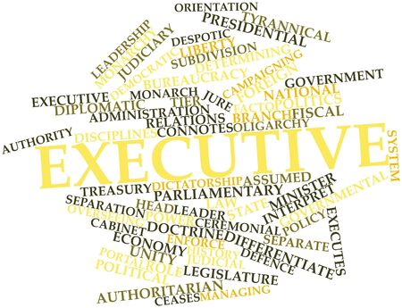 facto: Abstract word cloud for Executive with related tags and terms