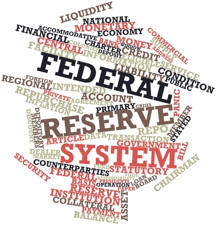 federal: Abstract word cloud for Federal Reserve System with related tags and terms