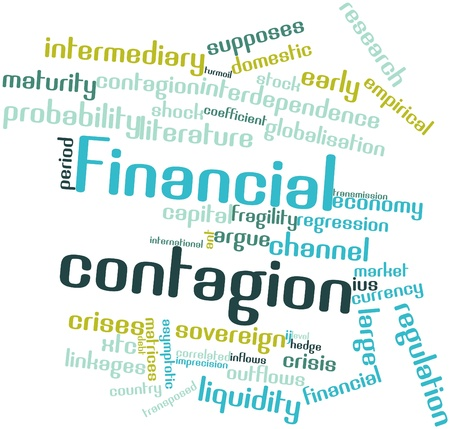 Abstract word cloud for Financial contagion with related tags and terms Stock Photo