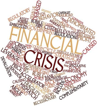 overbuilding: Word cloud astratto per crisi finanziaria con tag correlati e termini Archivio Fotografico