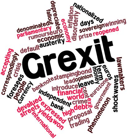 orderly: Abstract word cloud for Grexit with related tags and terms
