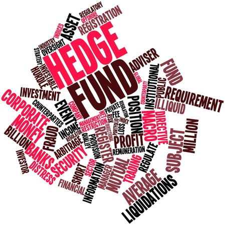 Abstract word cloud for Hedge fund with related tags and terms photo