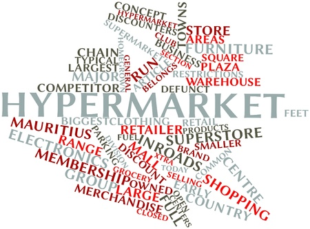 Abstract word cloud for Hypermarket with related tags and terms Stock Photo - 16445937