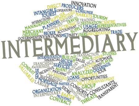 Abstract word cloud for Intermediary with related tags and terms Stock Photo - 16445980