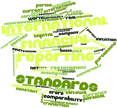 Abstract word cloud for International Financial Reporting Standards with related tags and terms Stock Photo - 16445939