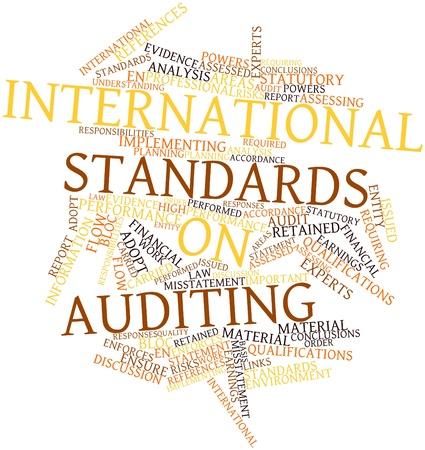 retained: Nube de palabras Resumen de Normas Internacionales de Auditoría con las etiquetas y términos relacionados