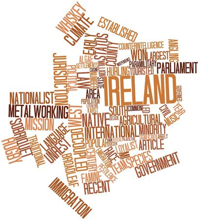 jurists: Abstract word cloud for Ireland with related tags and terms