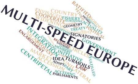 benchmarks: Abstract word cloud for Multi-speed Europe with related tags and terms