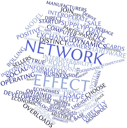 Abstract word cloud for Network effect with related tags and terms Stock Photo - 16446017