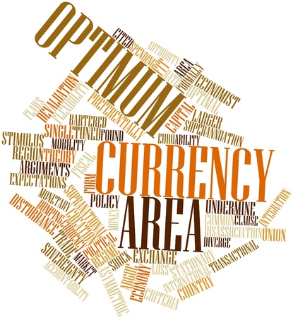 idiosyncratic: Abstract word cloud for Optimum currency area with related tags and terms