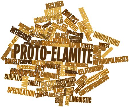 Abstract word cloud for Proto-Elamite with related tags and terms Stock Photo - 16446008