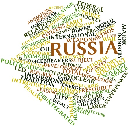 subordinated: Abstract word cloud for Russia with related tags and terms