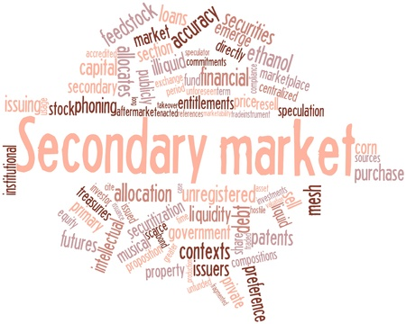 feedstock: Abstract word cloud for Secondary market with related tags and terms