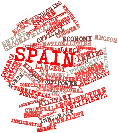 dominions: Abstract word cloud for Spain with related tags and terms